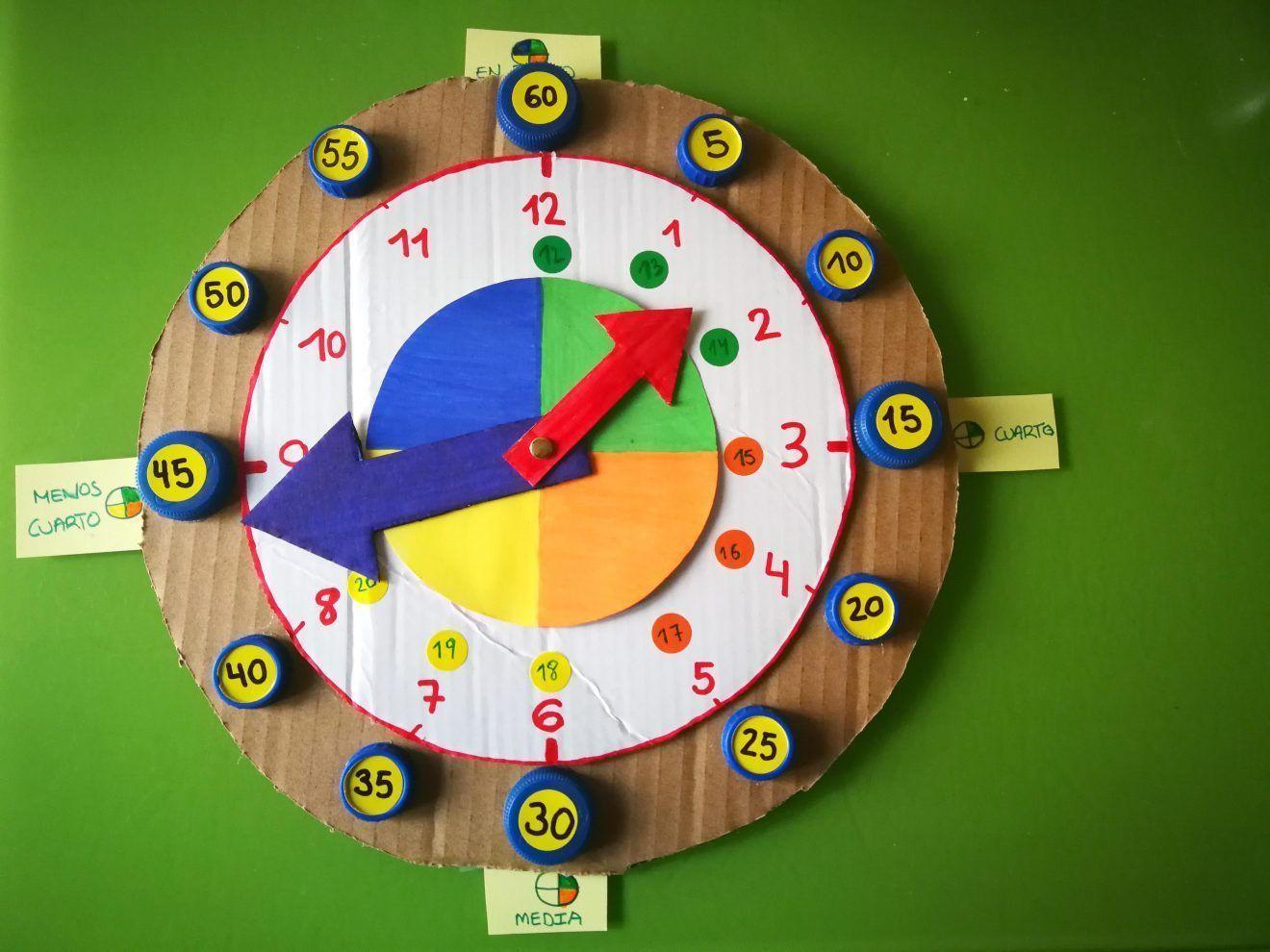 Reloj Para Aprender Las Horas Los Inventos De Mamá En 2020 Aprender La Hora Inventos Para Niños Reloj Para Niños