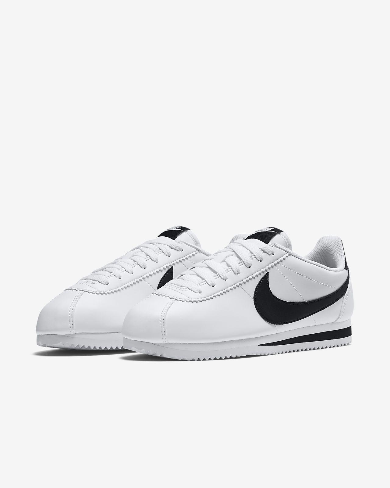 best service cef8e 4c463 Nike Classic Cortez Women s Shoe Black and White