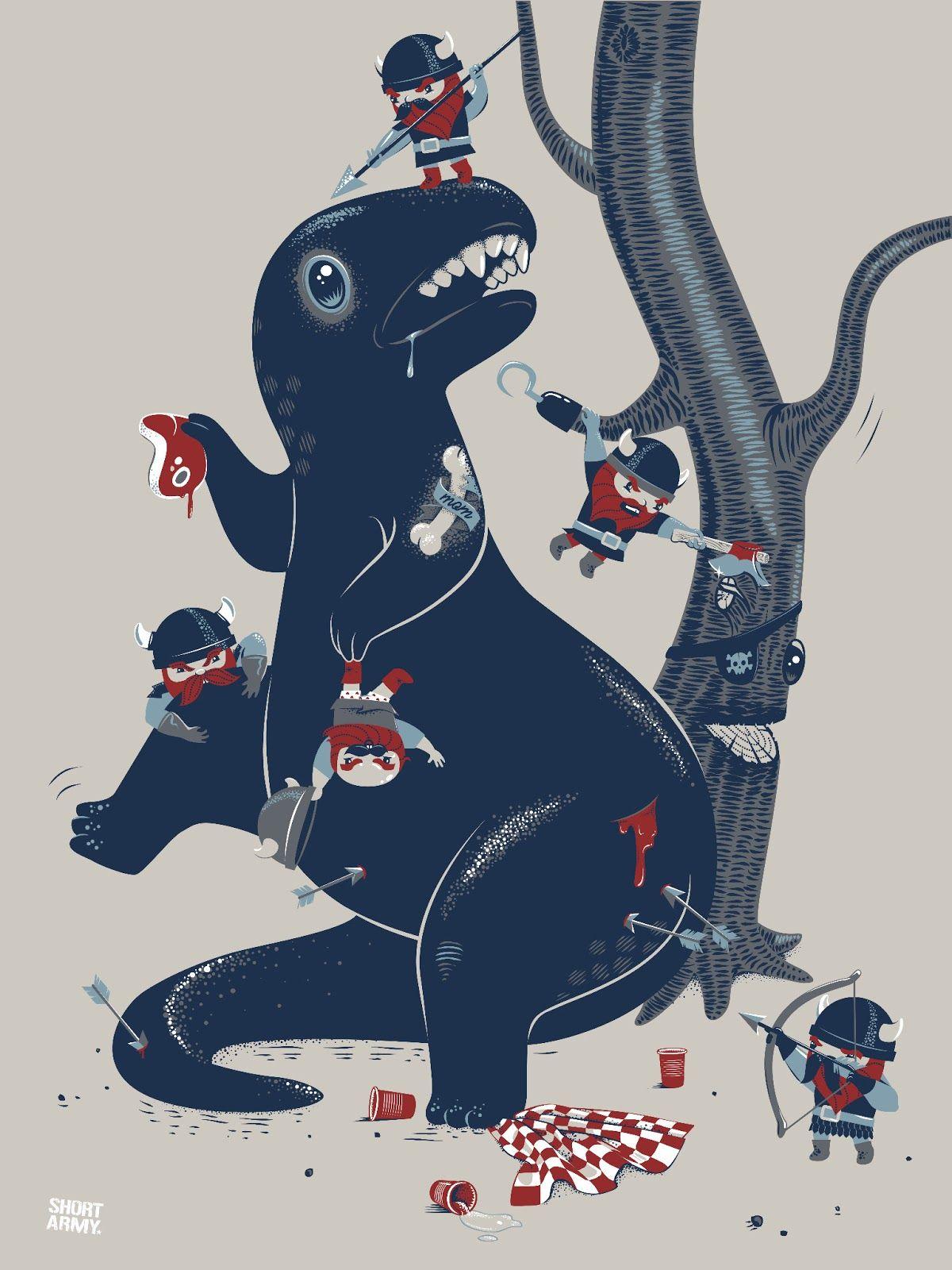 dinosaur-short-army-print