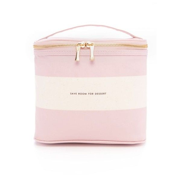 7db577004 Kate Spade New York Blush Rugby Stripe Lunch Tote ($30) ❤ liked on Polyvore  featuring home, kitchen & dining, food storage containers, pink, kate spade  ...