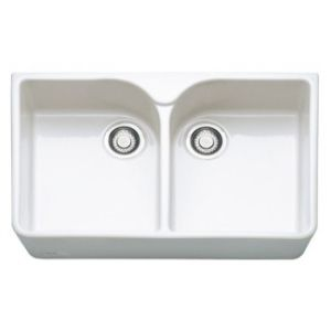 Belfast VB720 Ceramic Kitchen Sink With Twin Double Bowls By DaisyCombridge