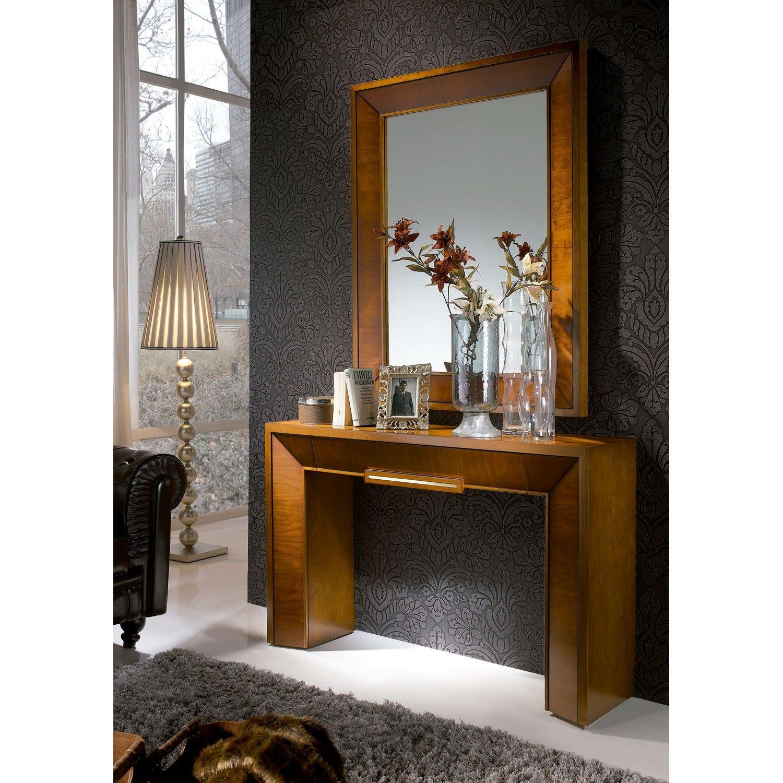 Espejo mitte dissery entryway tables table y furniture for Disenos de marcos de madera para espejos
