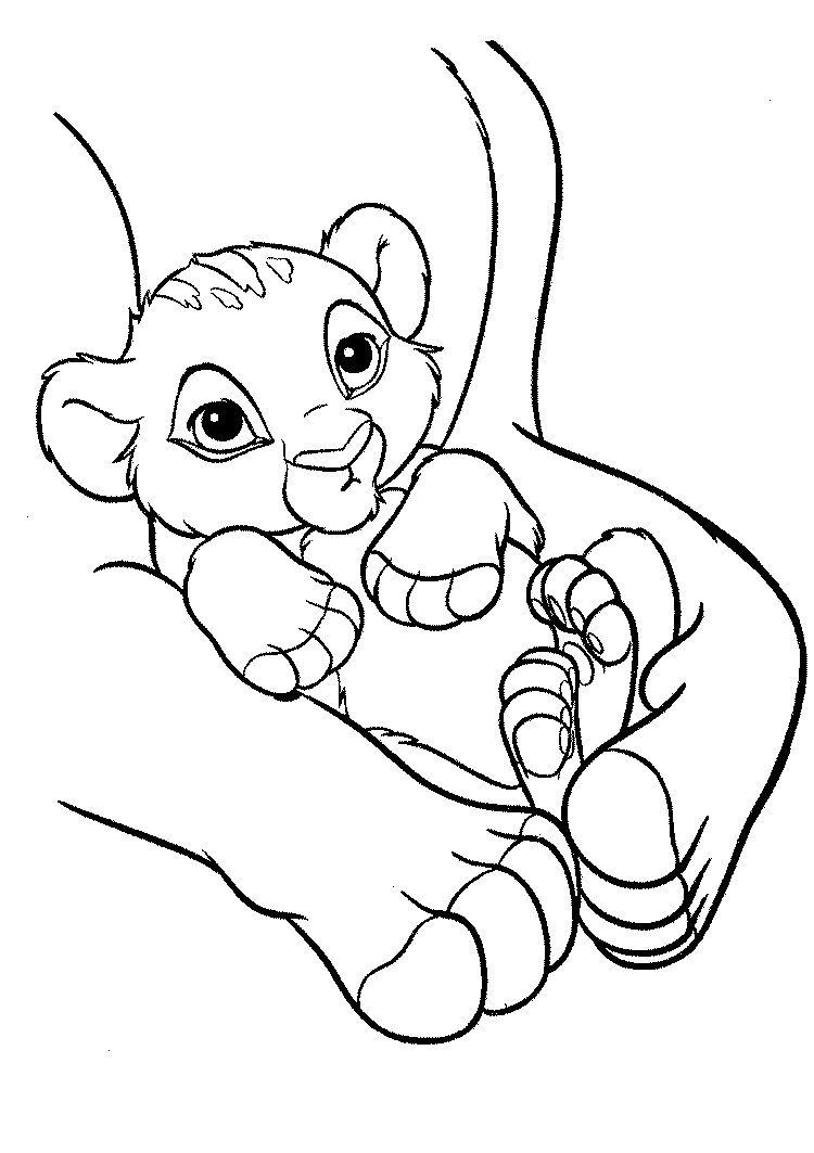 Coloriage Disney Roi Lion Imprimer  Lion coloring pages, Animal