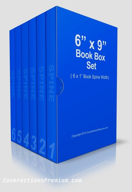 6x9 Book Box Set Mockup Cover Actions Premium Mockup Psd Template Book Box Boxset Books
