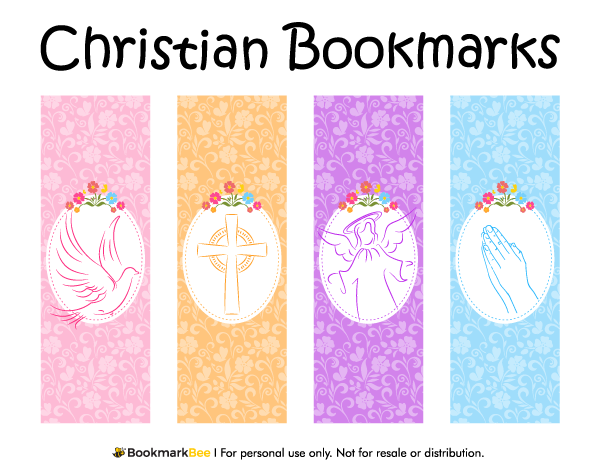 Free printable Christian bookmarks featuring graphics of a cross ...