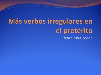 Español 1 - Señor Moncada