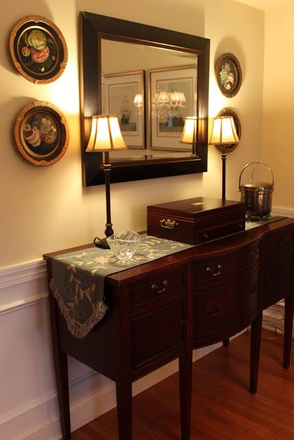 dining room buffets with lamps | Oversized Buffet Lamps {Dining ...