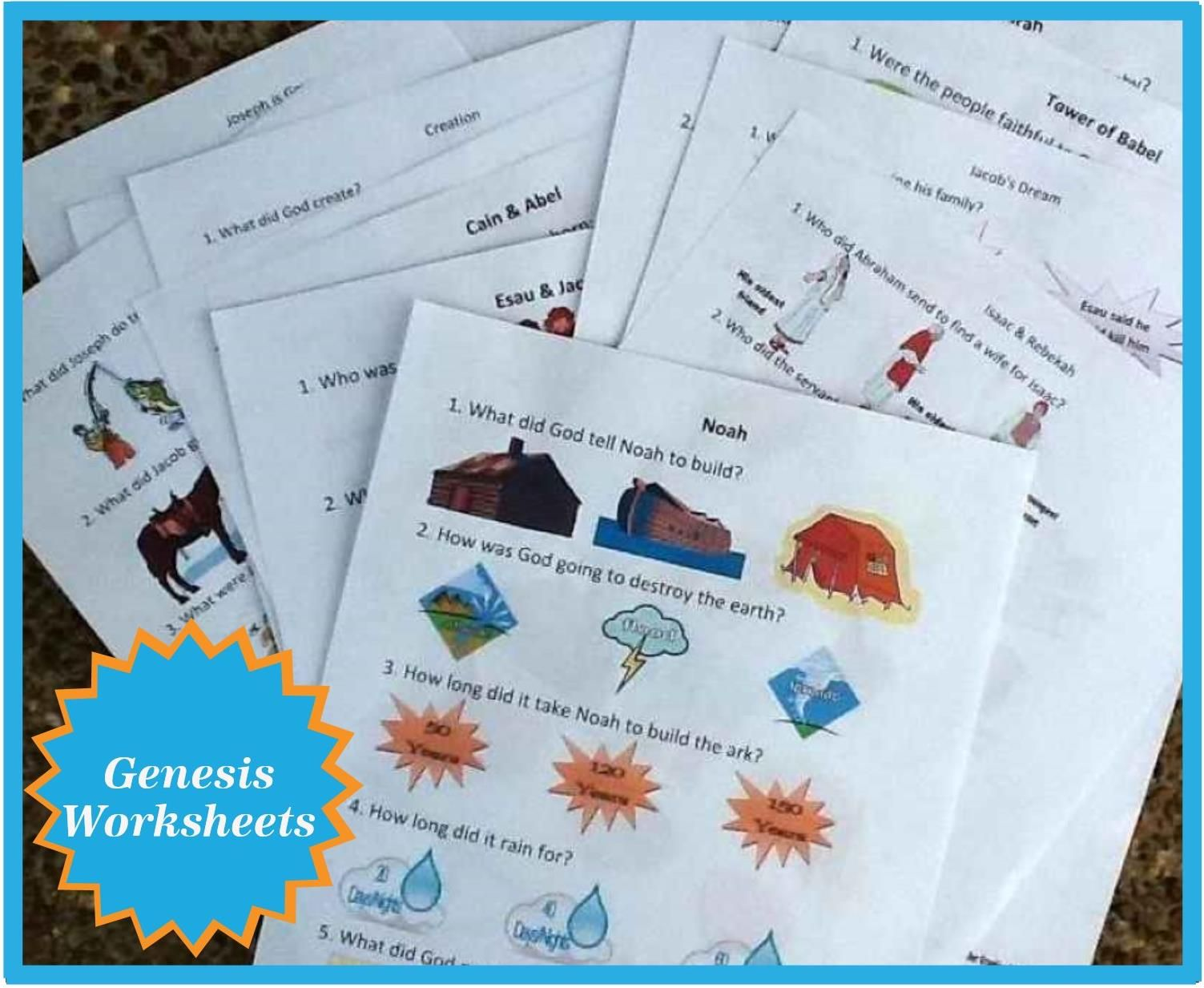 Fun Worksheets For Adults : Here are the worksheets for genesis all in one place! you will also
