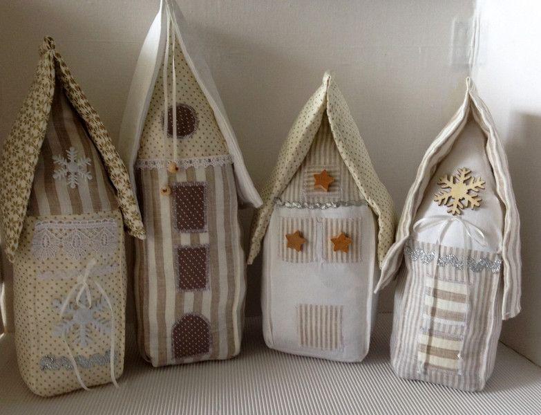 Häuser creme/weiss 4er Set von einfachschön! auf DaWanda.com
