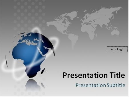 Globe model and world map PowerPoint template Design Free