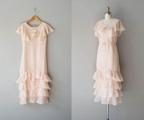 1920s dress / chiffon 20s dress