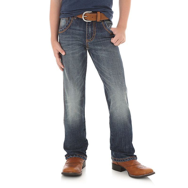 Wrangler Toddler Boys' Retro Boot Cut Jeans (1T-3T) (Size: 1T  Slim) Dark Blue