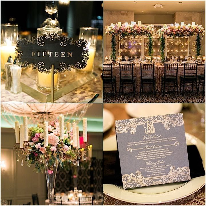 Houston Wedding Ballroom Glamour At Hotel Zaza
