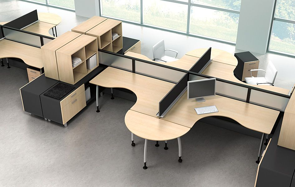Agile Office Fusion Furniture Designs For An Open And
