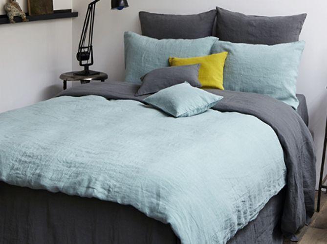 1 objet 2 budgets le linge de lit en lin merci versus celui de la redoute bedrooms bed. Black Bedroom Furniture Sets. Home Design Ideas