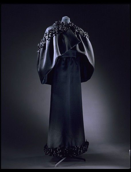 Evening dress and cape  Place of origin:Spain (made)   Switzerland (textile, made)Date:1965 (made)