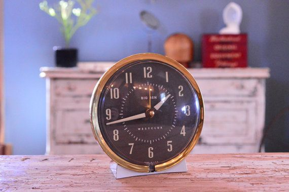 Vintage Ben Desk Clock White And Gold Mid Century Westclox Alarm A Heavy Duty Little They Just Dont Make Them Like