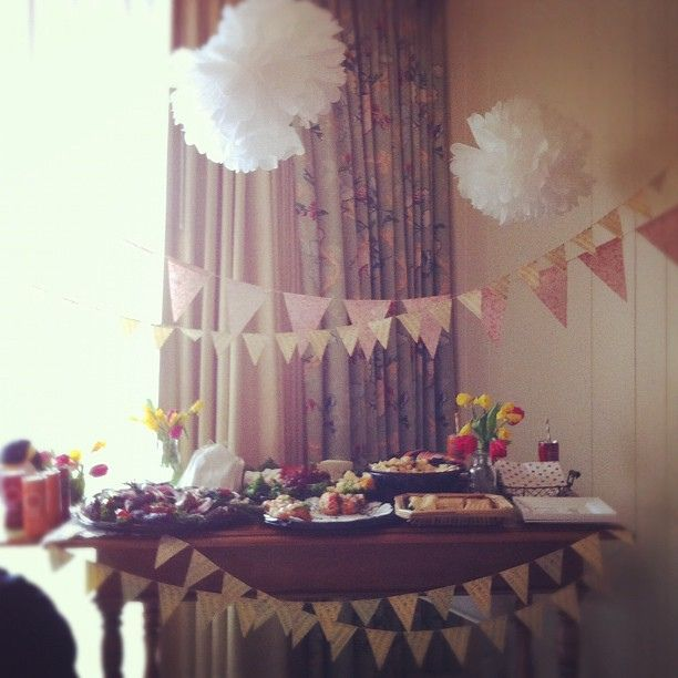 indoor baby shower - just for inspiration!