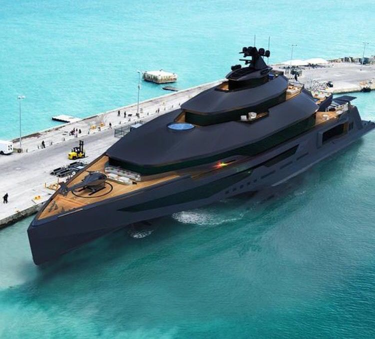Luxusyachten  Black on black.. Black yachts ♧ ♤ | Yatch | Pinterest ...