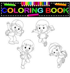 Kids School Coloring Book