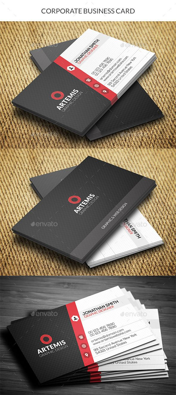 Corporate Business Card   Corporate business, Business cards and ...