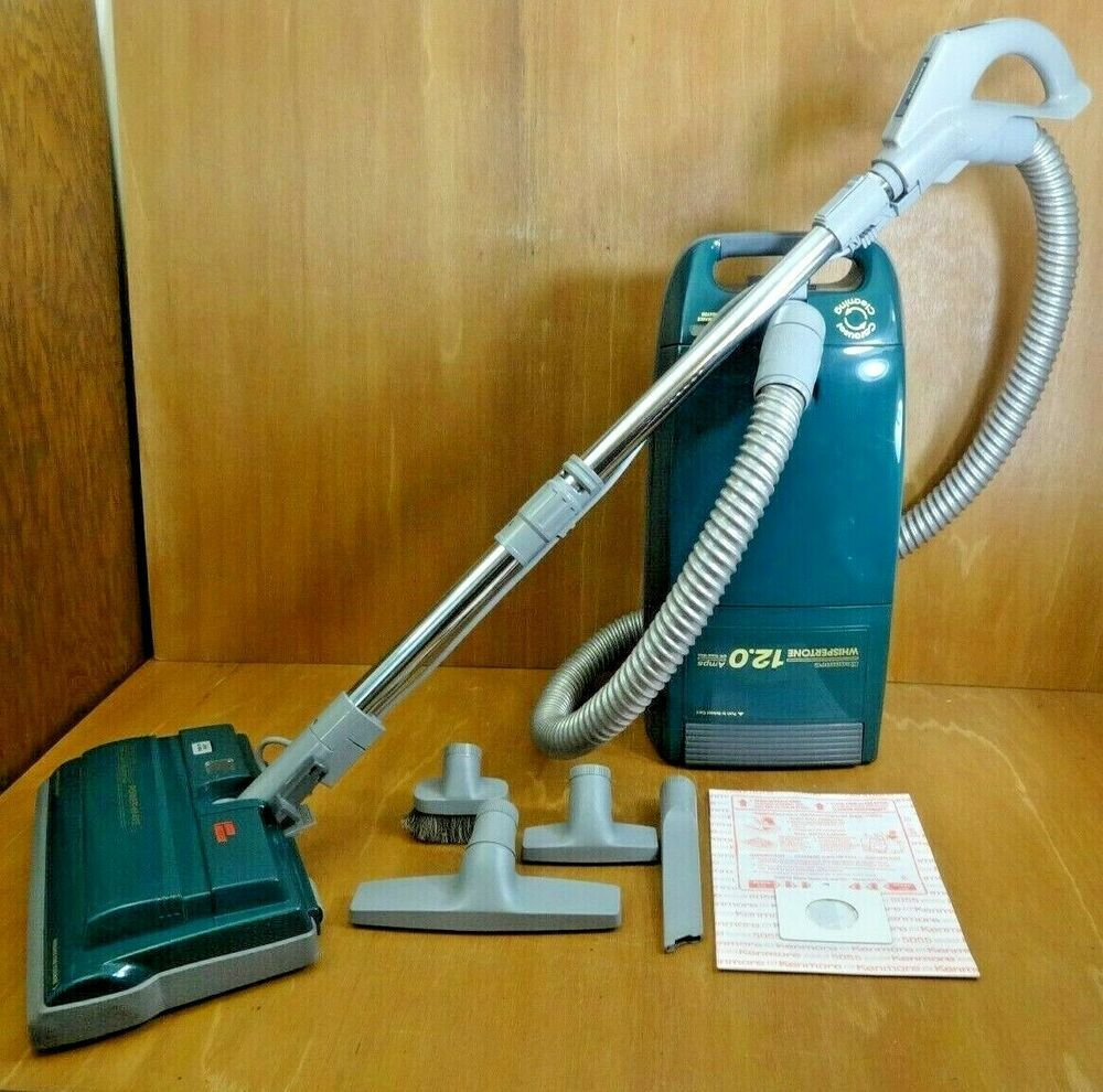 Kenmore Whispertone 116 Canister Vacuum Cleaner 12 0 W Attachments 24312 Vtg Kenmore Canister Vacuum Vacuum Cleaner Canister Vacuum Cleaner