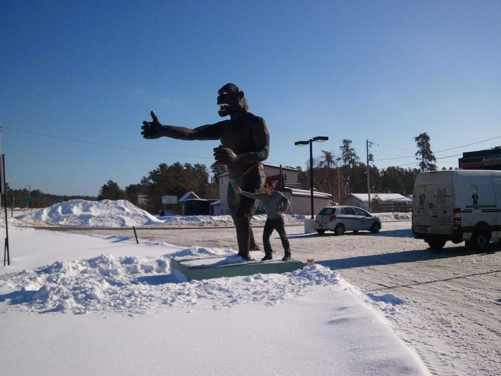 Squatching while passing through Vermillion Bay, Ontario.