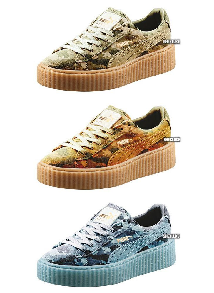newest b02b4 52747 Rihanna Has Camo Pumas Releasing Next Week | Fashion for ...