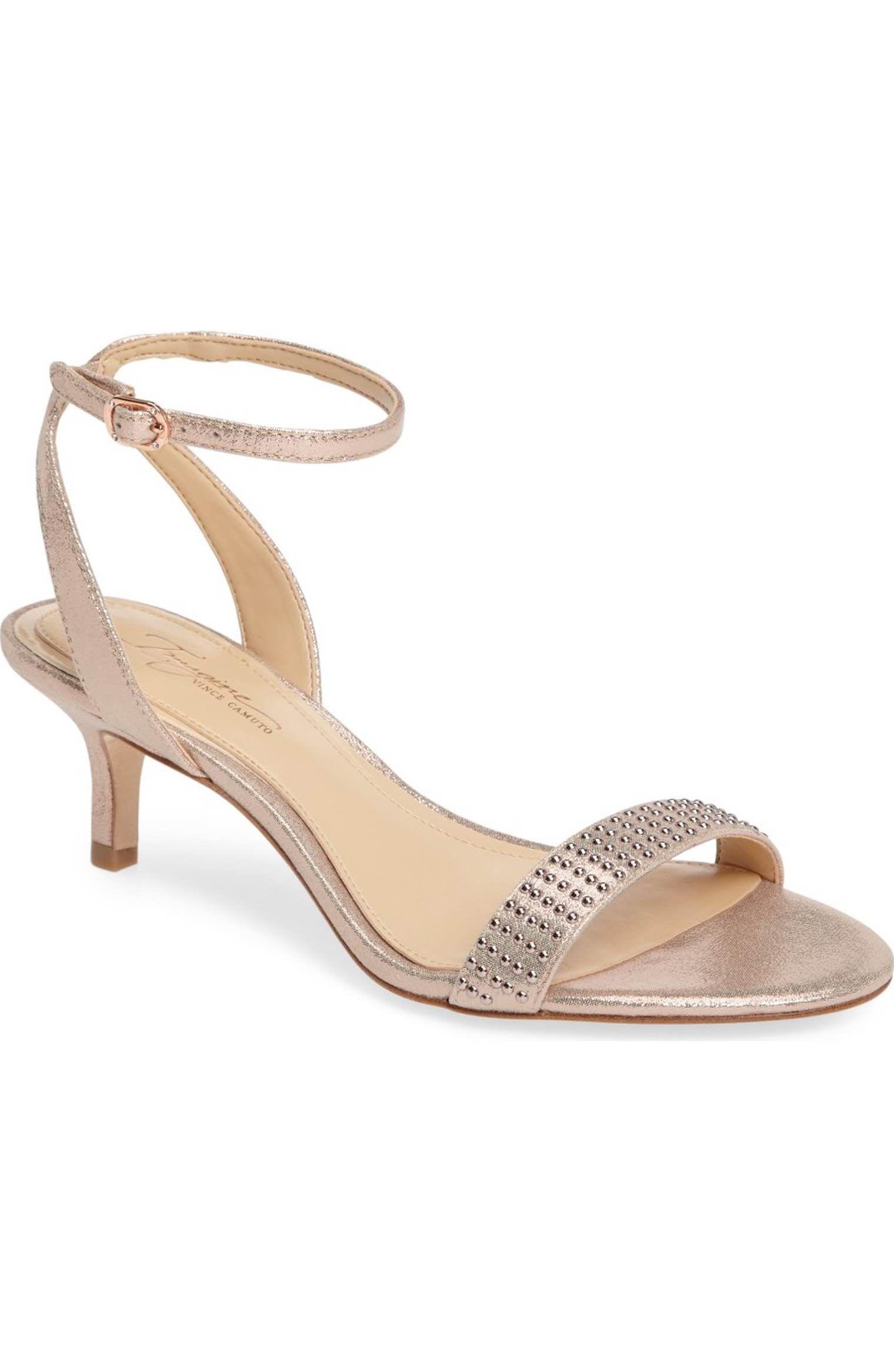 Imagine Vince Camuto Kevil Sandal Women Wedding Shoes Heels Kitten Heel Wedding Shoes Rose Gold Shoes