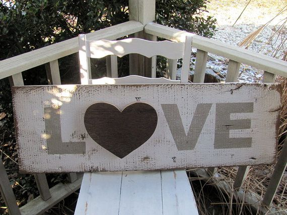 Hand Painted Distressed Wooden Love Sign By Ourhousetoyours 40 00 Love Signs Hand Painted Wooden