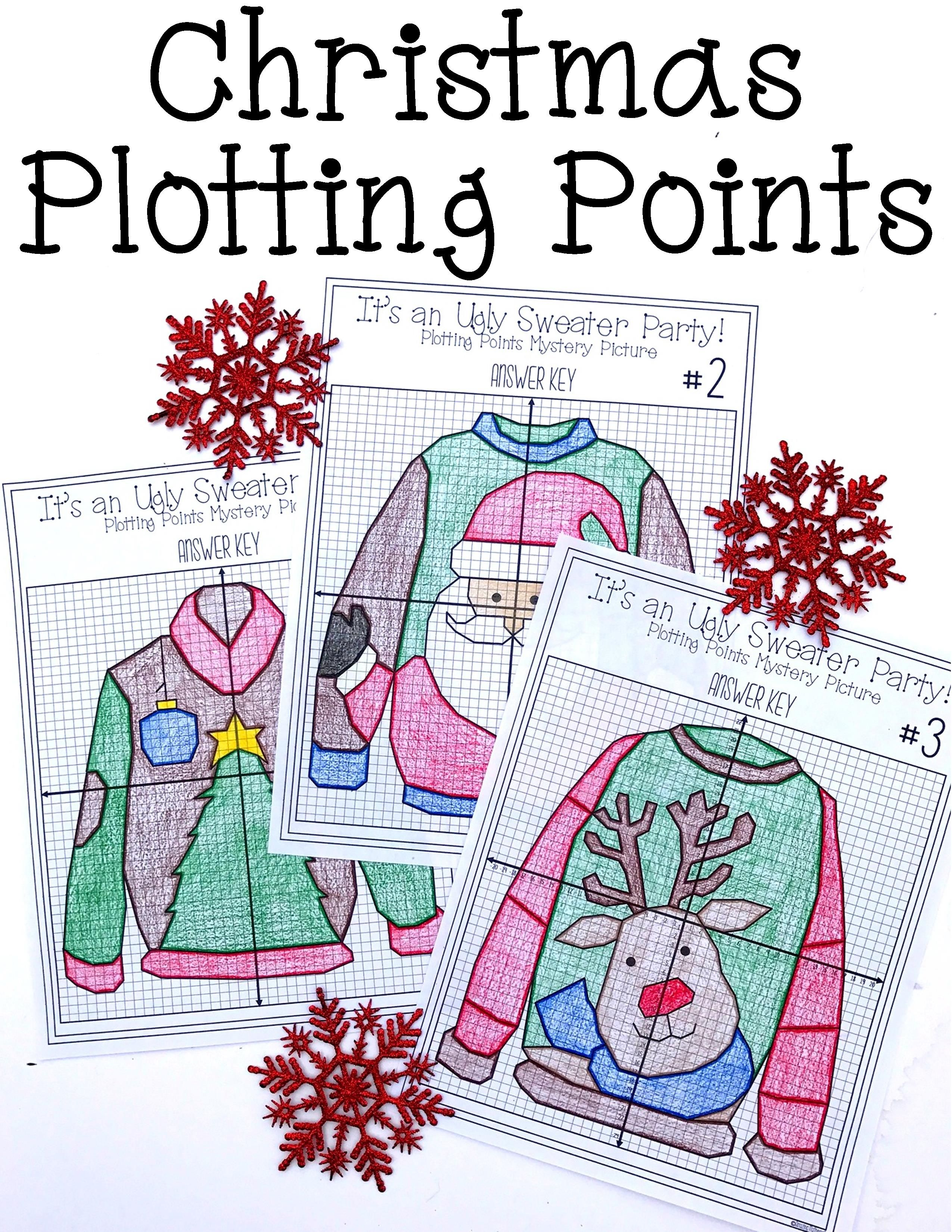 christmas math activity ugly sweaters plotting points mystery picture 8th grade math. Black Bedroom Furniture Sets. Home Design Ideas