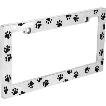 Auto Drive Paw Prints License Plate Frame