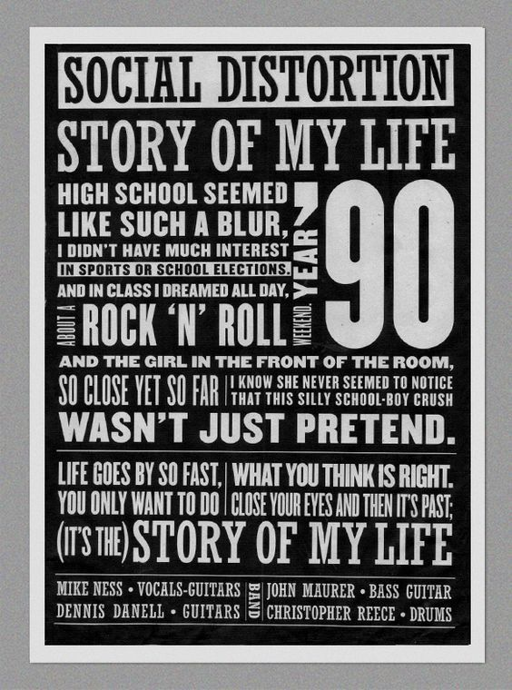 Social Distortion Social Distortion Story Of My Life Soundtrack To My Life