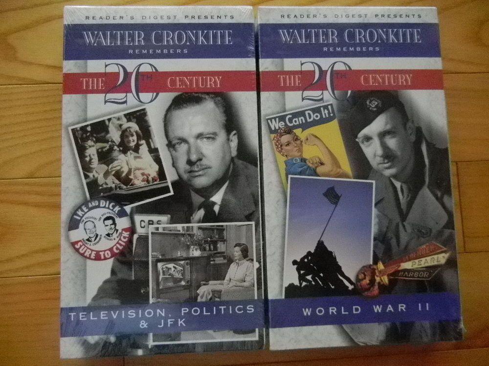 Walter Cronkite Remembers The 20th Century 2 Vhs Tapestv Politics