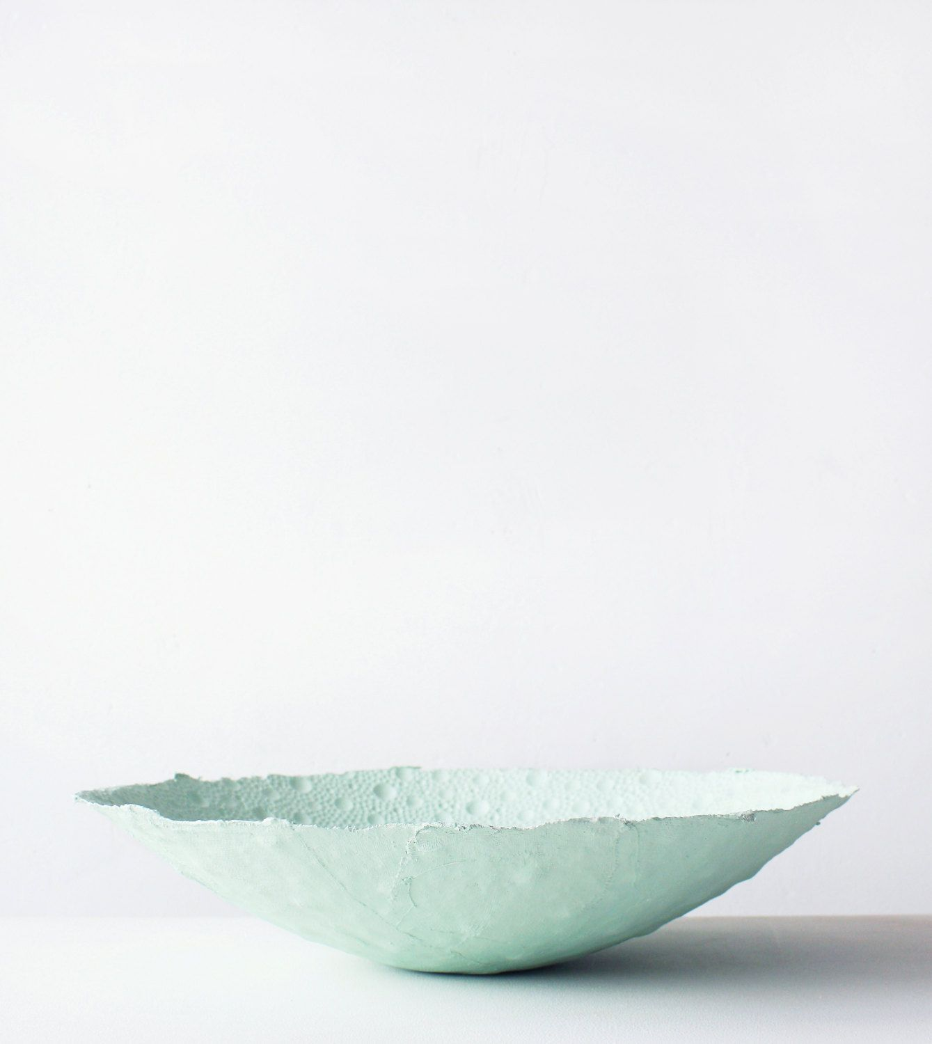 Second Skin Mint Bowl XL by JULY® - Materials: Plaster-cotton mix; very strong combination with a fragile look. ___On Etsy