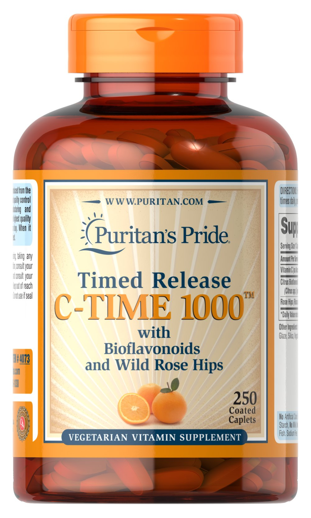 Vitamin C1000 mg with Rose Hips Timed Release 250 Caplets