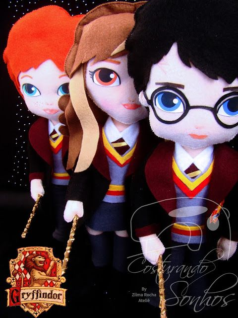 Artesanato Harry Potter ~ Harry Potter em Feltro Mundo Geek no Artesanato