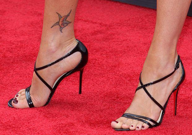 c1d258a94e1b Megan Fox wearing Christian Louboutin sandals