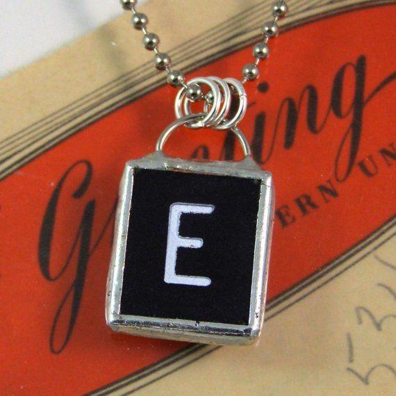 Letter E Pendant