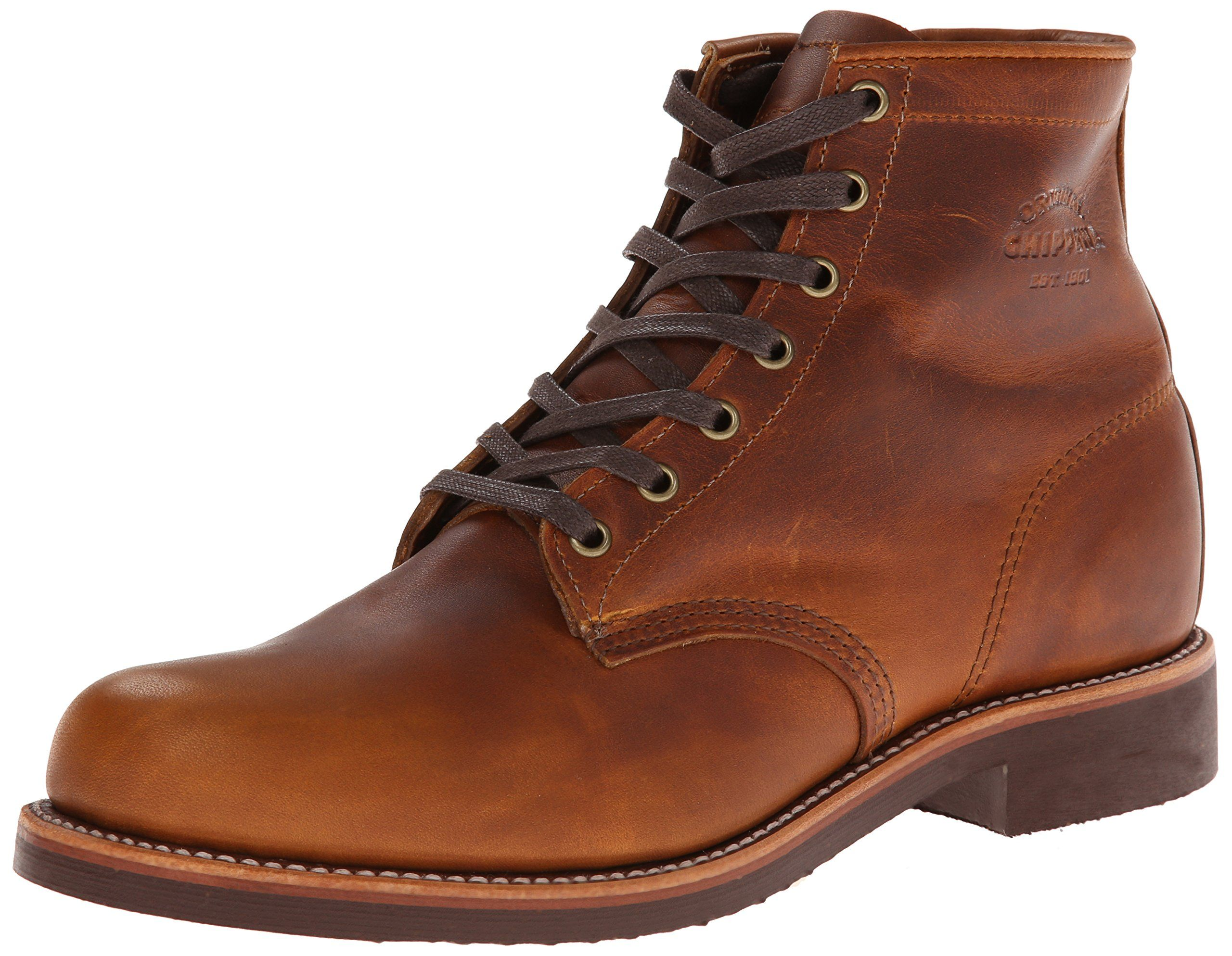 Original Chippewa Collection Men's 6 Inch Service Utility Boot, Tan Renegade