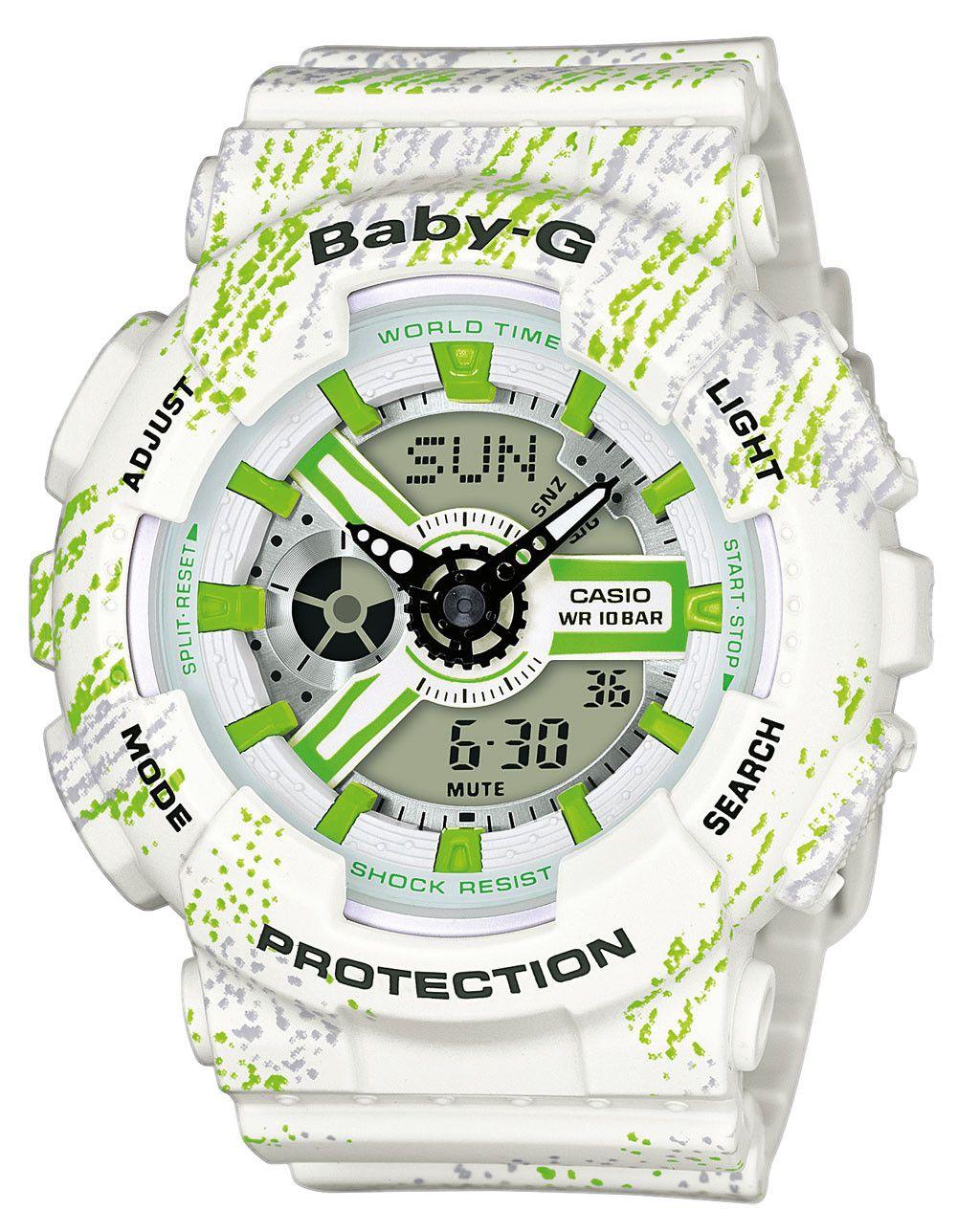 G Anadigi5 110tx 7aer Tagesalarme Casio Ba Armbanduhr Sowie Baby J1clFTK