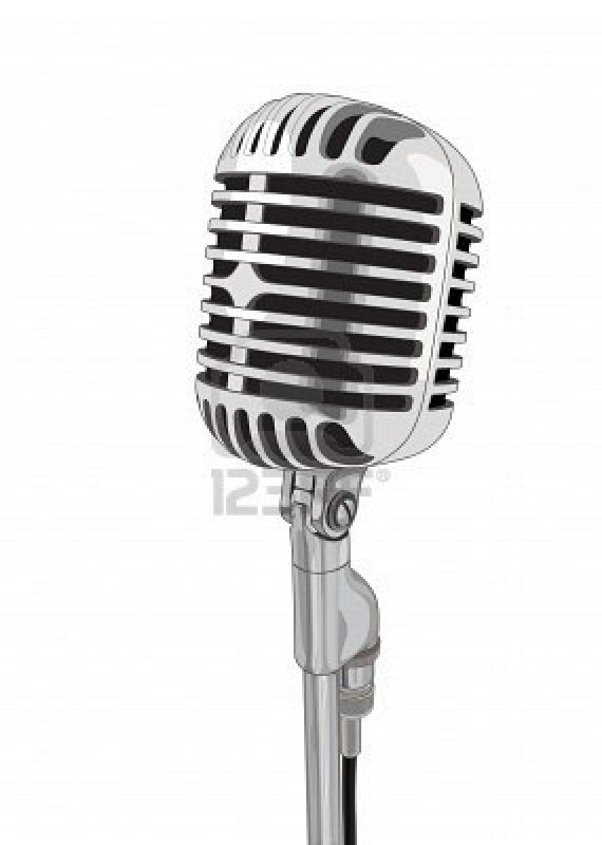 Sing into a vintage microphone vector | Microphone ...