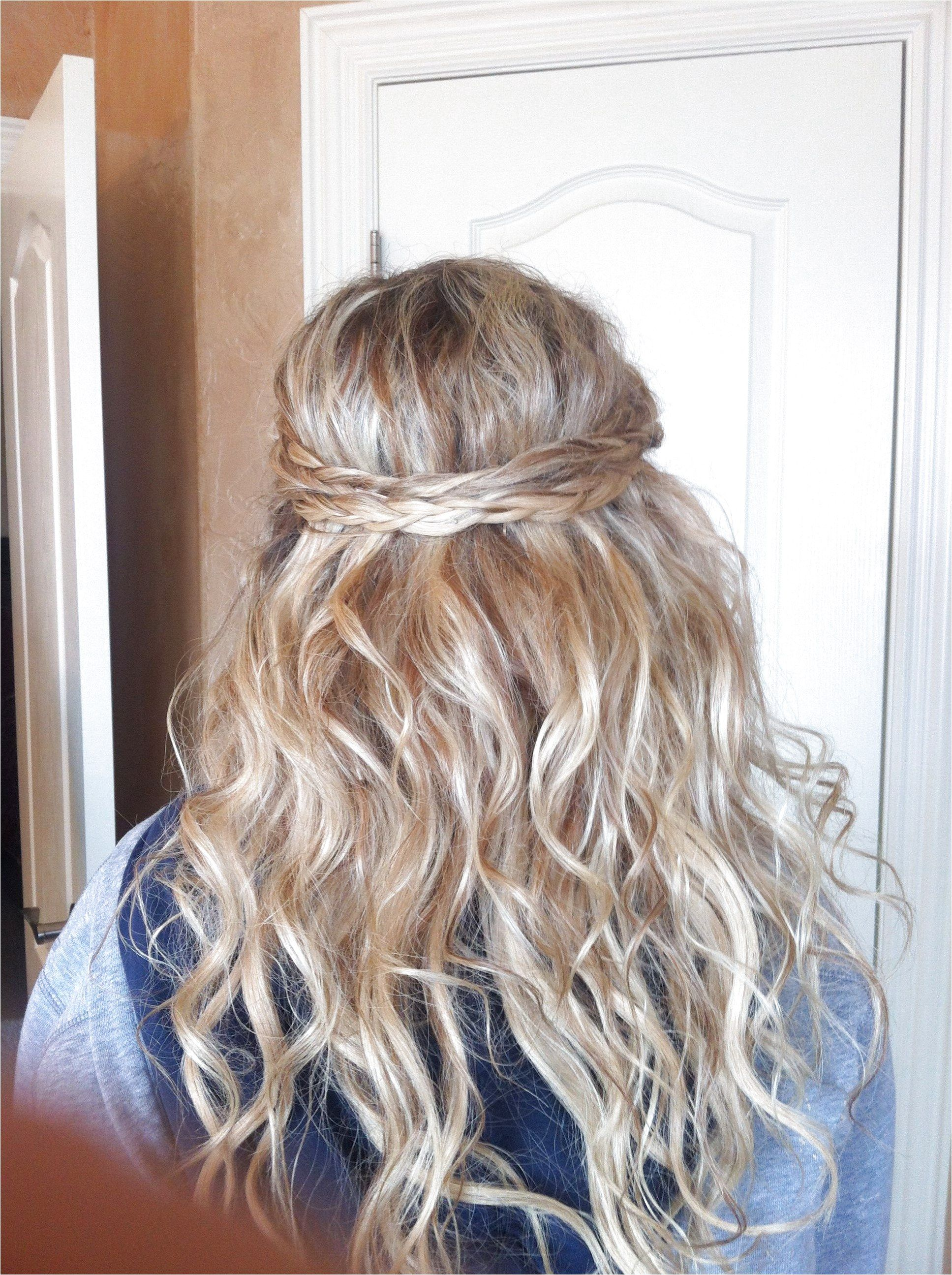 prom hair. half up half down with braids and extensions