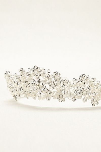 Flower and beaded tiara