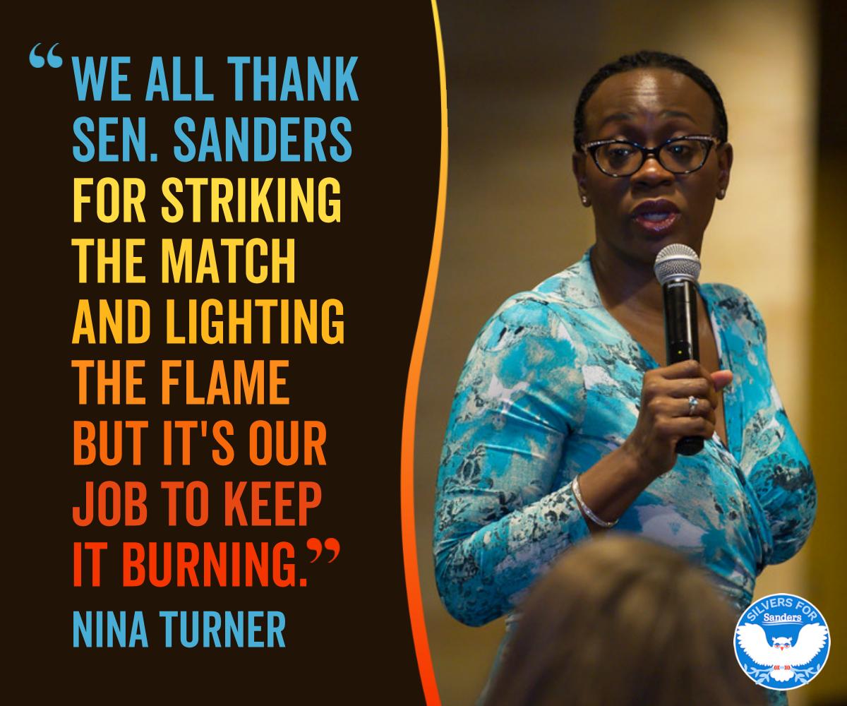 Nina Turner On Bernie Sanders Keep It Burning Burns Facebook Sign Up Politics