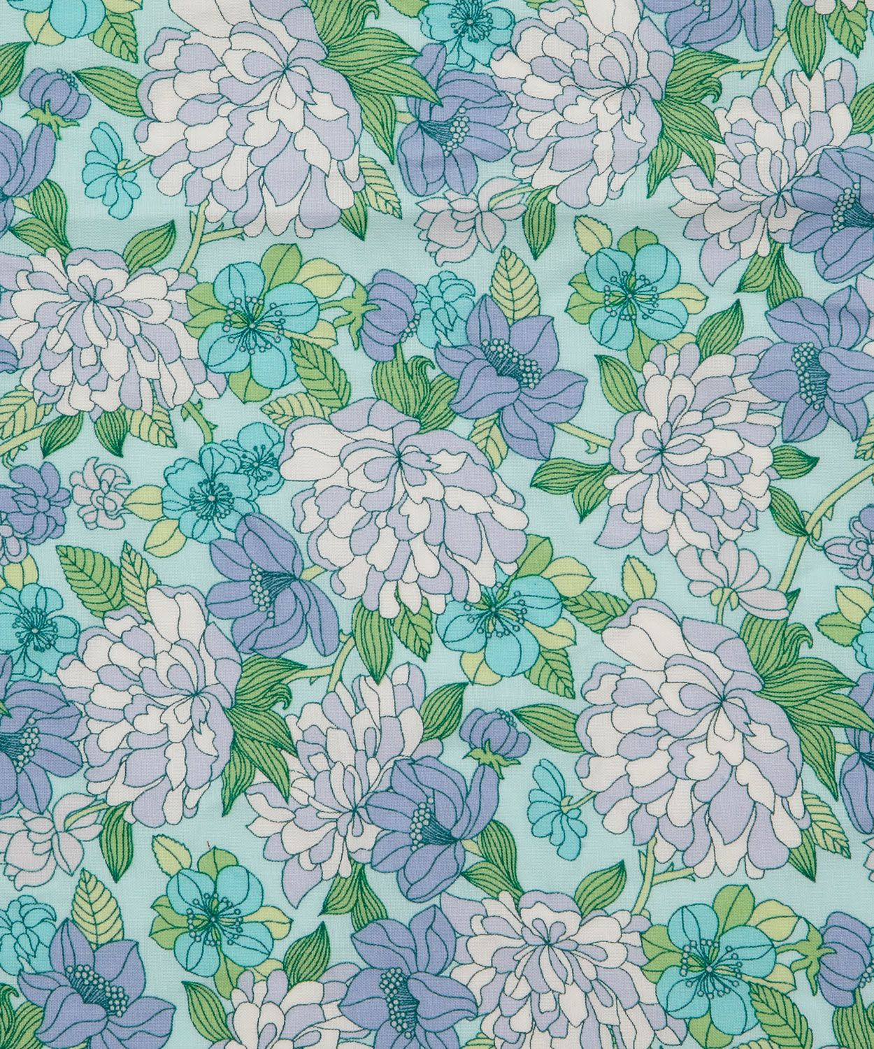Blue Copeland Cotton Craft Fabric, Liberty Art Fabrics.
