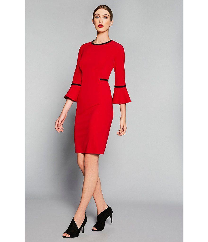29++ Calvin klein bell sheath dress inspirations