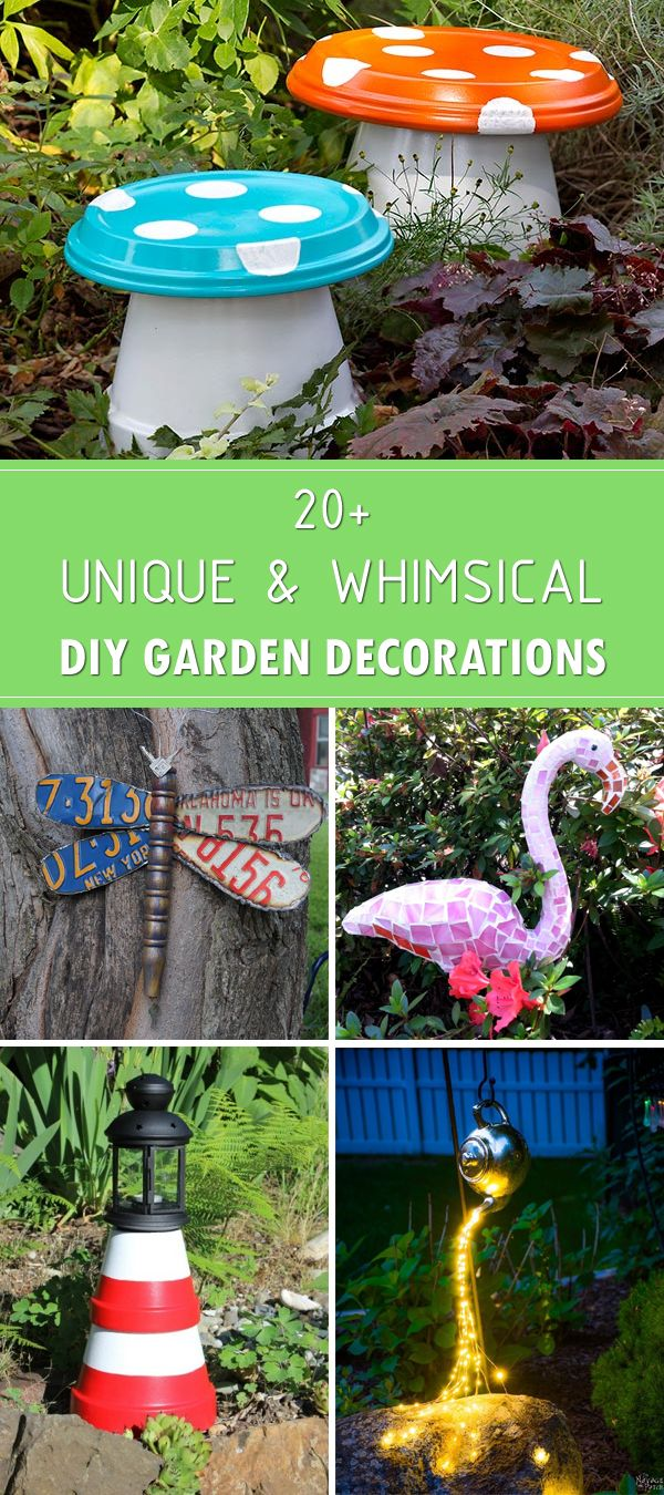 20+ Unique and Whimsical DIY Garden Decorations | Gardens, Garden ...