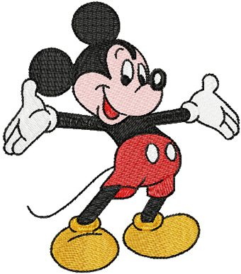 Mickey Mouse Welcome Embroidery Design Machine Embroidery Cricut