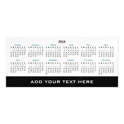 Create Your Own 2018 Custom Calendar Magnetic Card create your own